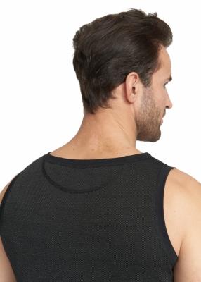 Strahlenschutz Achselhemd für Herren - schwarz