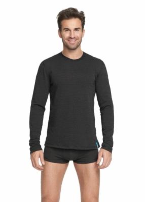 Strahlenschutz Basic Langarm-Shirt für Herren - schwarz