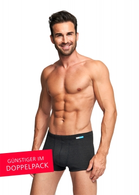 Strahlenschutz Boxer für Herren - schwarz - Doppelpack
