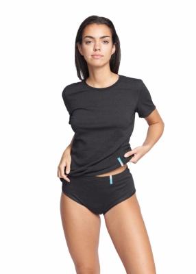 Strahlenschutz Slip für Damen - schwarz