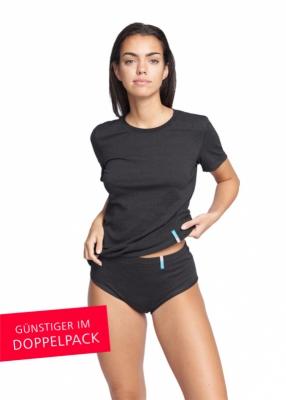 Strahlenschutz Slip für Damen - schwarz - Doppelpack