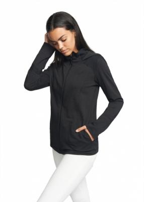 Strahlenschutz Jacke mit Kapuze für Damen - schwarz