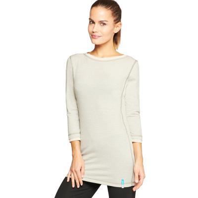 Strahlenschutz Langarm-Longshirt für Damen - beige