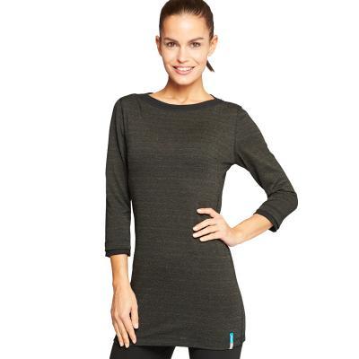 Strahlenschutz Langarm-Longshirt für Damen - schwarz