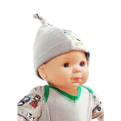 Strahlenschutz Mütze für Babys - beige-bunt