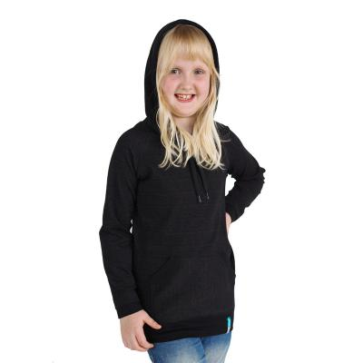 Strahlenschutz Langarm-Shirt mit Kapuze für Mädchen - schwarz