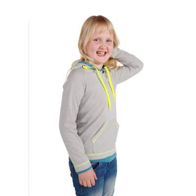 Strahlenschutz Langarm-Shirt mit Kapuze für Mädchen - beige-bunt