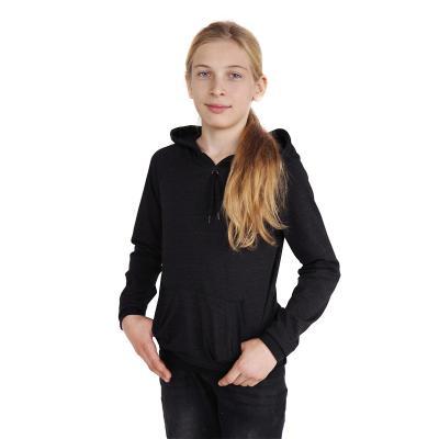 Strahlenschutz Langarm-Shirt mit Kapuze für Jungen - schwarz