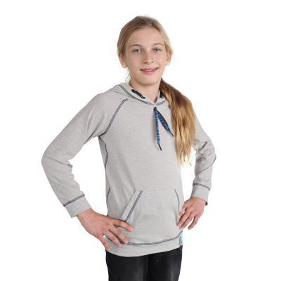 Strahlenschutz Langarm-Shirt mit Kapuze für Jungen - beige-bunt