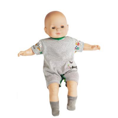 Strahlenschutz Body Kurzarm für Babys und Kleinkinder - beige-bunt