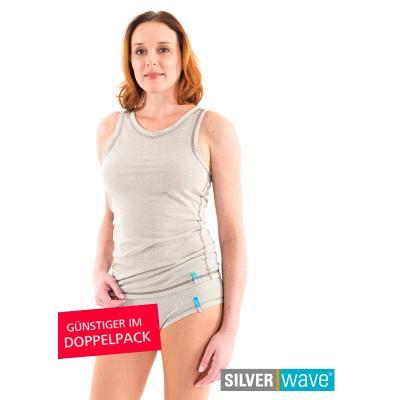 Strahlenschutz Achselhemd für Damen - beige - Doppelpack