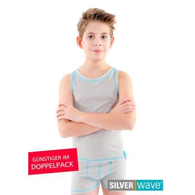 Strahlenschutz Achselhemd für Jungen - beige - Doppelpack