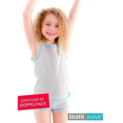 Strahlenschutz Achselhemd für Mädchen - beige - Doppelpack