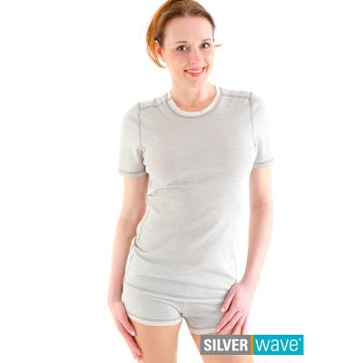 Strahlenschutz Basic Kurzarm-Shirt für Damen - beige