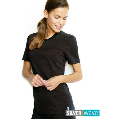 Strahlenschutz Basic Kurzarm-Shirt für Damen - schwarz