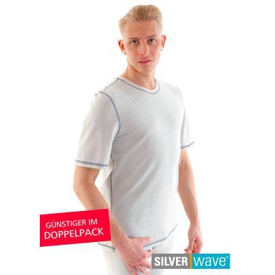 Strahlenschutz Basic Kurzarm-Shirt für Herren - beige - Doppelpack