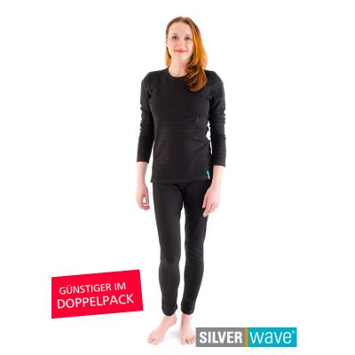 Strahlenschutz Legging für Damen - schwarz - Doppelpack