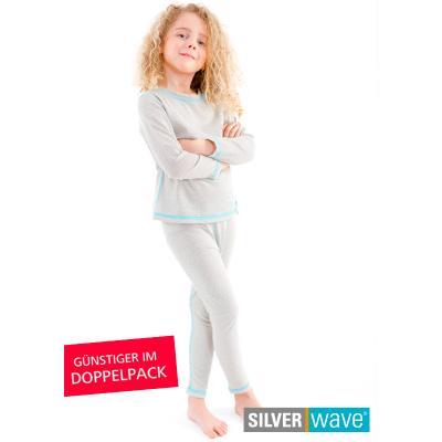 Strahlenschutz Legging für Mädchen - beige - Doppelpack