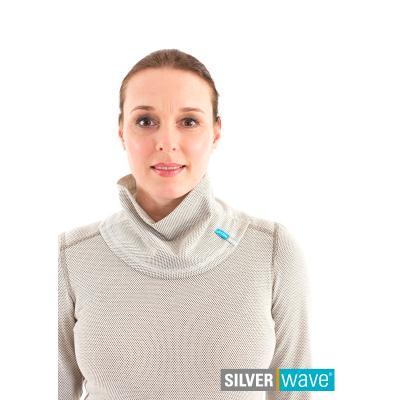 Strahlenschutz Schalkragen für Damen - beige