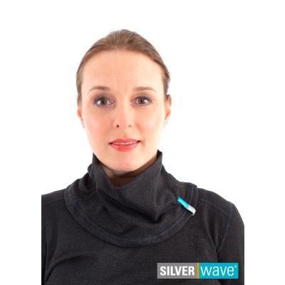Strahlenschutz Schalkragen für Damen - schwarz