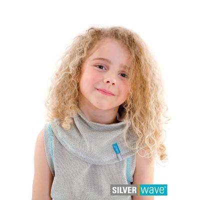 Strahlenschutz Schalkragen für Mädchen - beige