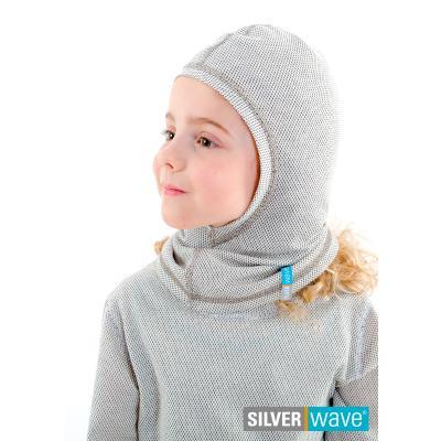 Strahlenschutz Schalmütze für Mädchen - beige
