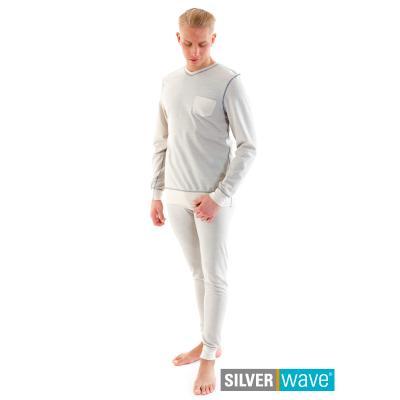 Strahlenschutz Schlafanzug für Herren - beige