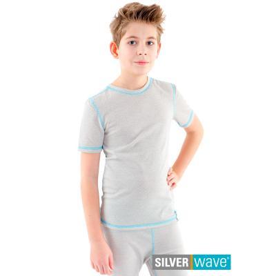 Strahlenschutz Kurzarm-Shirt für Jungen - beige