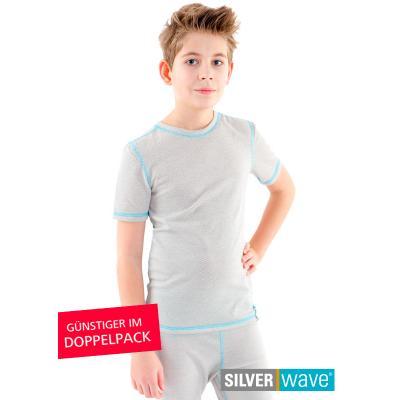 Strahlenschutz Shirt kurzarm für Jungen - beige - Doppelpack