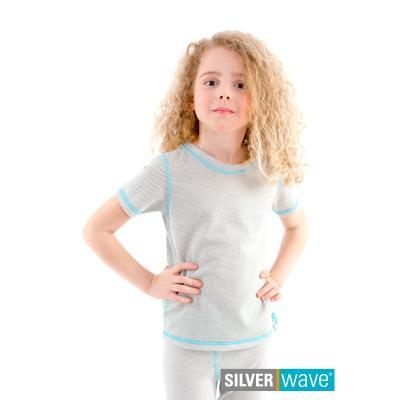 Strahlenschutz Kurzarm-Shirt für Mädchen - beige