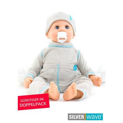 Strahlenschutz Shirt langarm für Babys - beige - Doppelpack