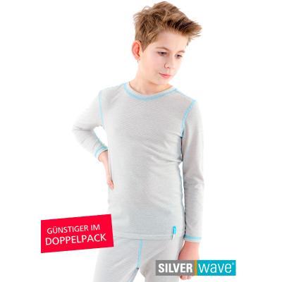 Strahlenschutz Shirt langarm für Jungen - beige - Doppelpack