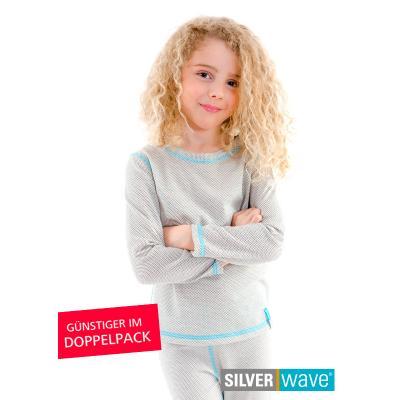 Strahlenschutz Langarm-Shirt für Mädchen - beige - Doppelpack