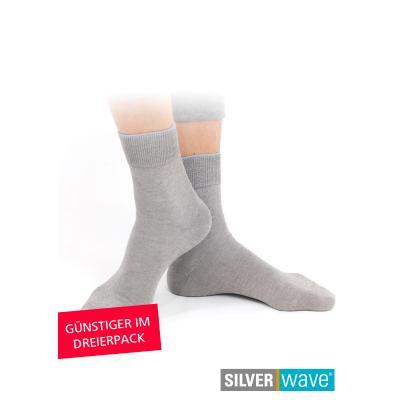 Strahlenschutz Socken für Damen - grau - Dreierpack