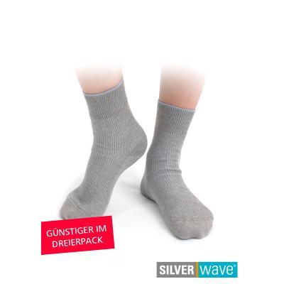 Strahlenschutz Socken für Herren - grau - Dreierpack
