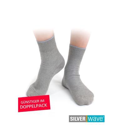 Strahlenschutz Socken für Jungen - grau - Doppelpack