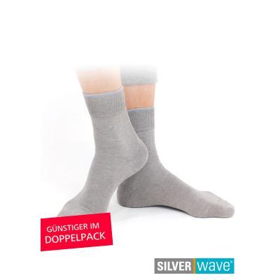 Strahlenschutz Socken für Mädchen - grau - Doppelpack