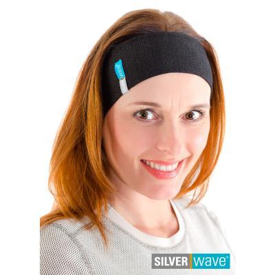 Strahlenschutz Stirnband für Damen - schwarz
