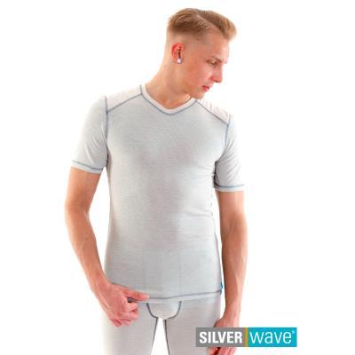 Strahlenschutz V-Neck Kurzarm-Shirt für Herren - beige