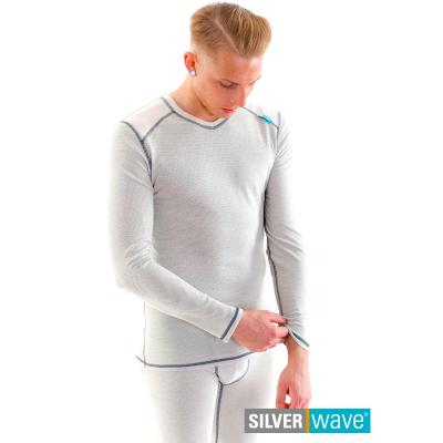 Strahlenschutz V-Neck Shirt langarm für Herren - beige