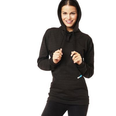 Strahlenschutz Langarm-Shirt mit Kapuze für Damen - schwarz