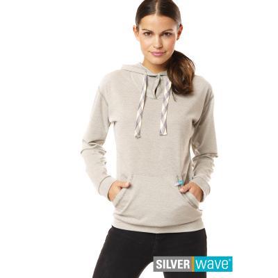 Strahlenschutz Langarm-Shirt mit Kapuze für Damen - beige