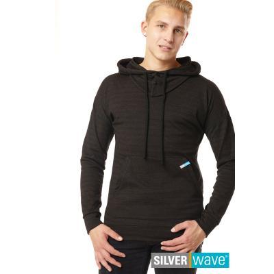 Strahlenschutz Langarm-Shirt mit Kapuze für Herren - schwarz