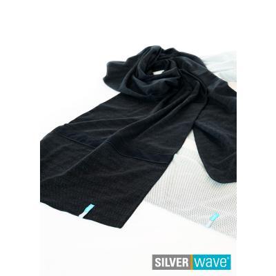 Strahlenschutz Schal für Herren 0,45 x 2,20 m - schwarz