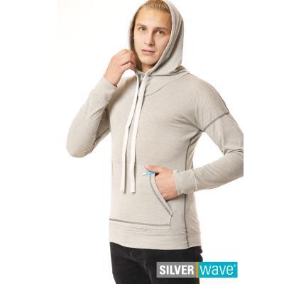 Strahlenschutz Langarm-Shirt mit Kapuze für Herren - beige