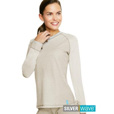 Strahlenschutz Raglan Langarm-Shirt für Damen - beige