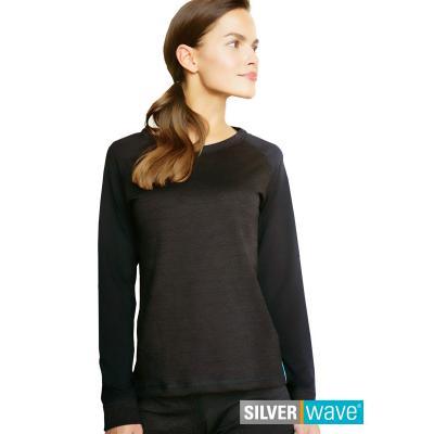 Strahlenschutz Raglan Langarm-Shirt für Damen - schwarz