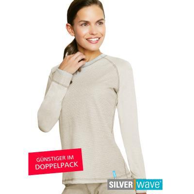 Strahlenschutz Raglan Langarm-Shirt für Damen - beige - Doppelpack