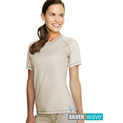 Strahlenschutz Raglan Kurzarm-Shirt für Damen - beige