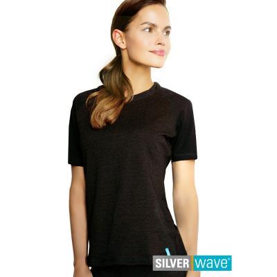 Strahlenschutz Raglan Kurzarm-Shirt für Damen - schwarz